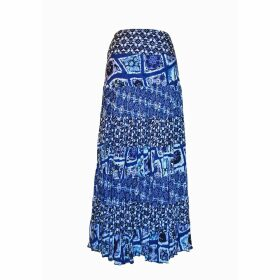 Long Patterned Full Skirt