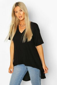 Womens Tall Basic Eclipse Hem T-Shirt - Black - 18, Black