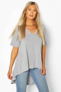 Womens Tall Basic Eclipse Hem T-Shirt - Grey - 10, Grey