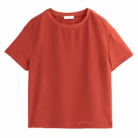 Short-Sleeved Round Neck Blouse