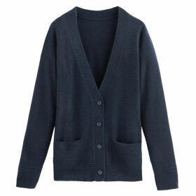 Cashmere V-Neck Cardigan with Pockets