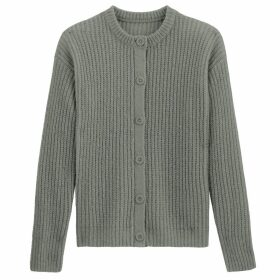 Chunky Knit Ribbed Buttoned Cardigan
