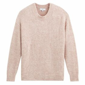 Fluffy Chunky Knit Jumper with Crew Neck