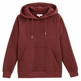 Cotton Slip-On Hoodie in Loose Fit with Pocket