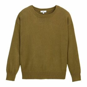 Chunky Knit Jumper with Boat-Neck