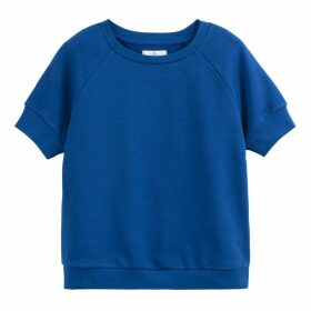 Cotton Short-Sleeved Crew Neck Sweatshirt