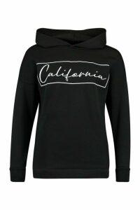 Womens California Oversized Hoodie - Black - 14, Black
