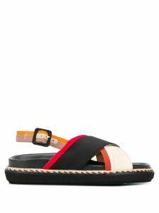 Castañer crossover strap sandals - Black