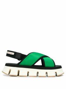 Marni ridged sole sandals - Green