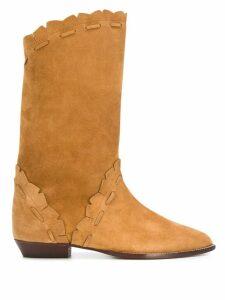Isabel Marant lace-trimmed boots - NEUTRALS