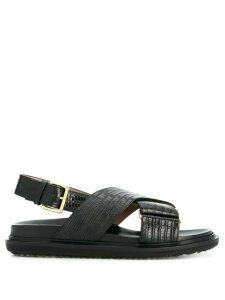 Marni embossed strap sandals - Black