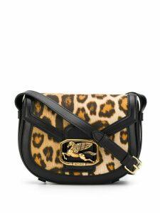 Etro leopard-print logo crossbody bag - Black