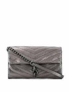 Rebecca Minkoff Edie embossed crossbody bag - Metallic