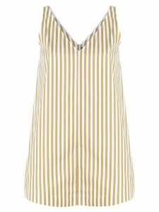 Joseph candy stripe v-neck top - NEUTRALS