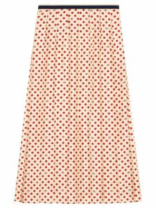 Gucci Skirt with four-leaf clovers, GG and hearts - NEUTRALS