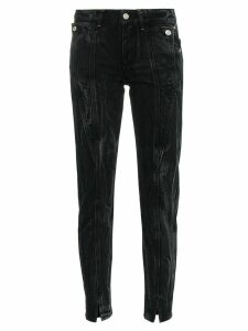 Givenchy panel detail split hem jeans - Black