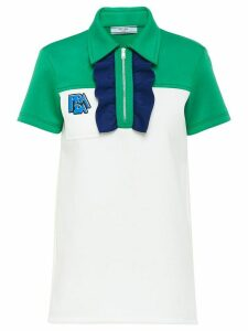 Prada ruched detail polo shirt - White