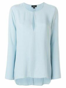 Theory tear-shaped neck blouse - Blue