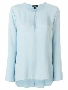Theory tear-shaped neck blouse - Blue