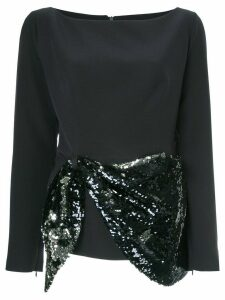 Safiyaa sequin embellished blouse - Blue
