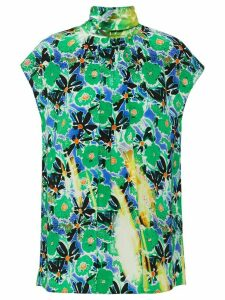 Prada floral overprint top - Green