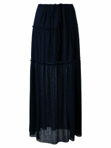 See by Chloé pleated maxi skirt - Black