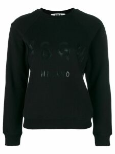 MSGM branded sweatshirt - Black