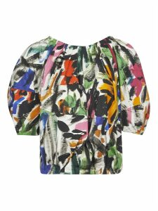 Marni Balloon-sleeve Printed Blouse
