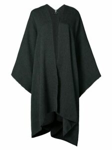 Voz draped V-neck cape - Grey