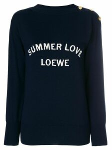 Loewe Summer Love sweater - Blue
