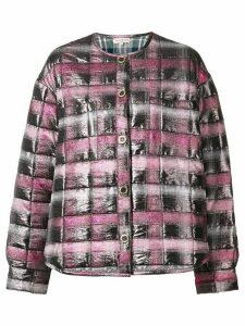 Natasha Zinko Jacquard padded shirt jacket - PINK