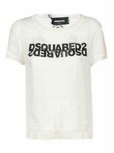 Dsquared2 Logo Print Ribbed T-shirt