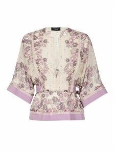 Dsquared2 Floral Print V-neck Top