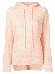 GANNI knitted hoodie - PINK