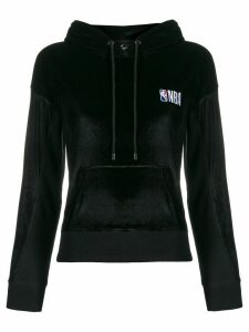 MARCELO BURLON COUNTY OF MILAN NBA velvet hoodie - Black