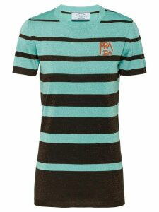 Prada lamé wool T-shirt - Green