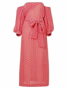Lisa Marie Fernandez Rosie off-shoulder maxi dress - Red