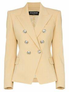 Balmain double-breasted wool blazer - NEUTRALS