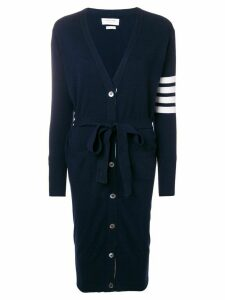 Thom Browne Long Boxy Cashmere Cardigan - Blue