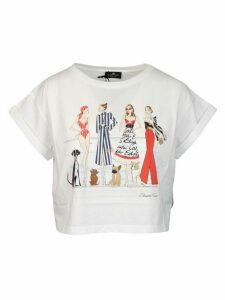 Elisabetta Franchi Celyn B. Cotton With Print Models And Dogs T-shirt