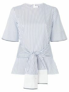 Victoria Victoria Beckham striped wrap blouse - White