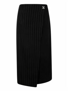 Off-White Pinstripe Panel Skirt