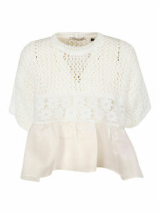 Vivetta Kitted Floral Laced Top