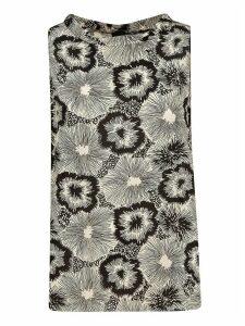 Aspesi Floral Print Tank Top