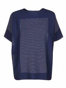 Issey Miyake Blue Cotton T-shirt