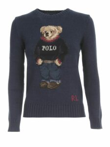 Polo Ralph Lauren Cotton Sweater Crew Neck W/teddy