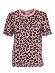 Chiara Ferragni Pink Leopard Print T-shirt