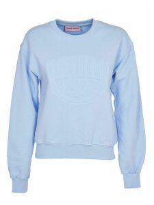 Chiara Ferragni Light Blue eye Sweatshirt