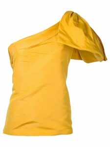 Bambah side bow embellished silk top - Yellow