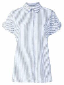 Victoria Victoria Beckham layered shortsleeved striped shirt - Blue